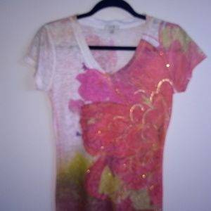 Floral and gem printed Cache t-shirt